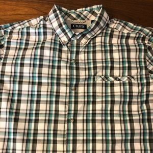 NWOT CHAPS Short Sleeve Button Up Size XL